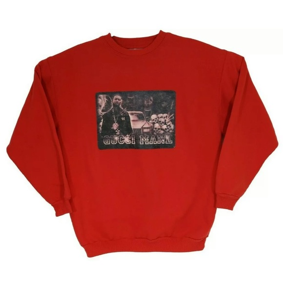 Gucci Mane Red Pullover Rap Sweater Made In Canada